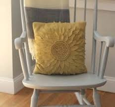 Rocking Chair Cushions For Nursery Yellow Gingham Rocking Chair Cushions Yellow Rocking Chair Nursery