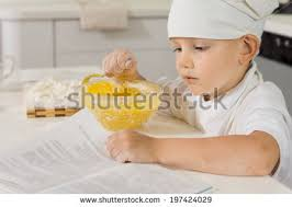 Cooks In The Kitchen by Portrait Cute Little Holding Homemade Stock Photo 535798765
