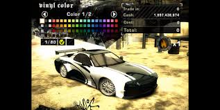 how to customize cars in need for speed most wanted 2005