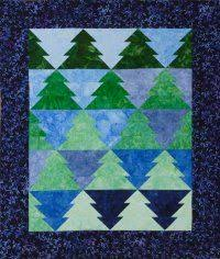 tessellating christmas tree or fir tree quilt pattern quilts