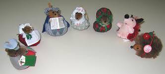houseful of hedgehogs glass hedgehog ornaments and teasel