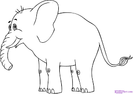 how to draw a cartoon elephant step by step cartoon animals