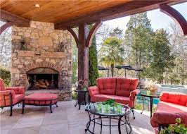 Outdoor Patio Fireplace Designs Covered Patio With Fireplace Free Home Decor