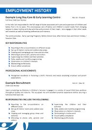 Sample Daycare Resume by Resume Daycare Resume Samples