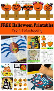 free halloween printables kids totschooling toddler