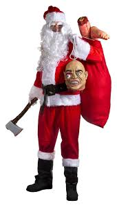 evil killer santa halloween fancy dress costume deluxe 16 piece