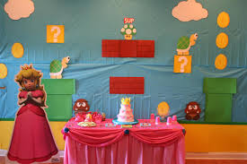 Super Mario Home Decor Princess Party Wall Decorations Photo On Fancy Home Decor