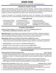 banking resume template sle banking resumes sle entry level banking resume template