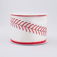 baseball ribbon 2 5 baseball stitching ribbon 10 yards rg1799 craftoutlet