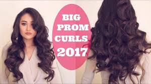 big beautiful voluminous curls prom hair tuorial youtube