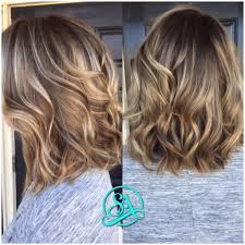 long bob balayage with smudged root short hair cuts and colors
