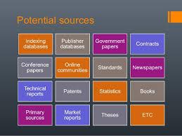 Potential sources