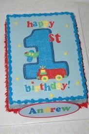 boy 1st birthday theme sheet cake ideas google search birthday