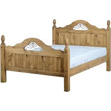 4 Foot Bed Frame Corona Pine 4 6 Scroll High Foot End Bedframe Default