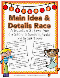 main idea and details freebie reading ideas pinterest
