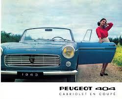classic peugeot coupe 1963 peugeot 404 cabriolet u0026 coupe brochure