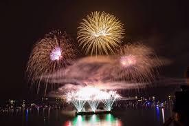 Celebration In Uk Uk Lights Up The Sky For The Celebration Of Light Agassiz