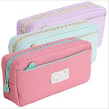 pencil cases high quality canvas pencil cases stationery store big size school