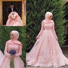 pink wedding dresses dubai muslim pink wedding dresses sleeve arabic wedding gowns