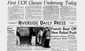 Ucr Campus Map Ucr Today Looking Back 60 Years Commemorating The First Day Of