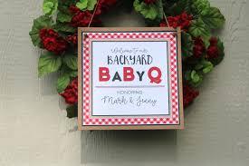 baby q baby shower welcome door sign bbq baby shower