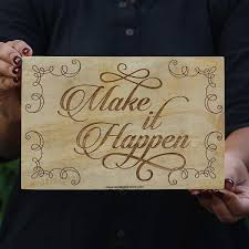 wood artwork for walls make it happen wood sign wood wall