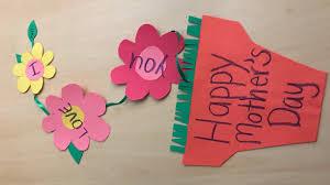 kids u0027 homemade mother u0027s day card crafts diy youtube