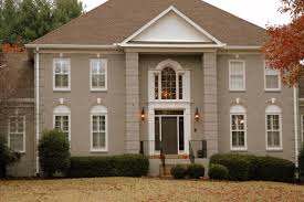 exterior color schemes for houses with brick paint ideas in india