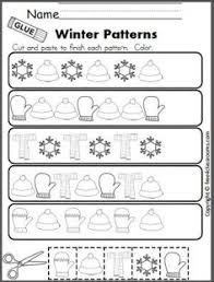 winter preschool math and literacy no prep worksheets and