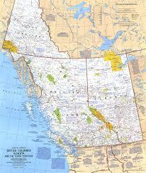 National Geographic Map British Columbia Alberta And The Yukon Territory Map