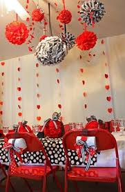 valentines party decorations candy apple and white striped paper straws for a