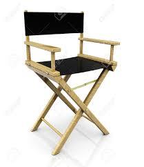 chaise de cinéma 3d illustration de la chaise de réalisateur de cinéma sur fond