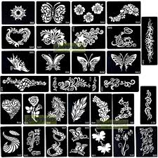 1pc great sale large mehndi design black henna temporary tattoo