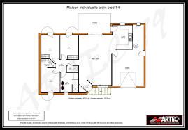 plan maison simple 3 chambres maison t4