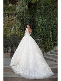 backless wedding dress gown 3 4 sleeves lace the shoulder backless wedding dresses