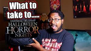 tips for halloween horror nights what items to take to hhn 27 youtube