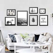 Nordic Home Decor 2017 Fashion Black Nordic Canvas Print Painting Poster Wall