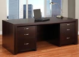 Contempo 32x72 Executive Desk W Legal File Drawers Handstone
