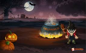 halloween dinner desktop wallpapers free latoro