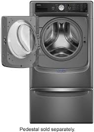 Pedestal Washing Machine Maytag 4 5 Cu Ft 11 Cycle Front Loading Washer Gray Mhw5500fc