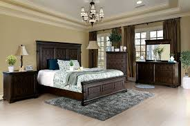minerva transitional style queen bed