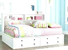 twin headboard with bookshelf image of full size storage bed with