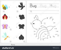 connect dots worksheet education stock vector 278532203 shutterstock