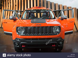 jeep renegade orange 2017 detroit michigan the 2015 jeep renegade trailhawk on display at