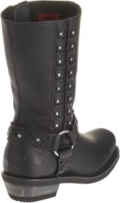 black motorcycle riding boots harley davidson women u0027s auburn black harness 9 inch motorcycle