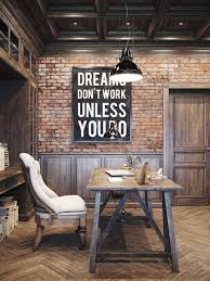 Wall Art Industrial Home Office Interior Design Inspiration - Home office interior design inspiration