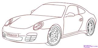 car drawings step by step pictures of car