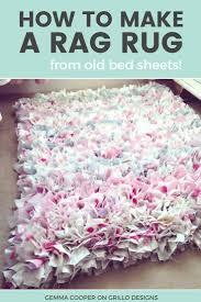 Diy Rug How To Make A Diy Rag Rug Using Old Bedding