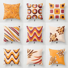 Orange Pillows For Sofa by Fresh Burgundy Velvet Pillows 9772
