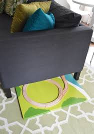 Table Under Sofa by How To Make A Train Board Young House Love